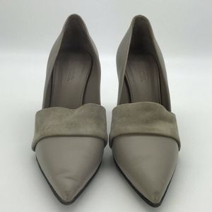 Vince Grey Pointed Toe Pumps Size 6.5M
